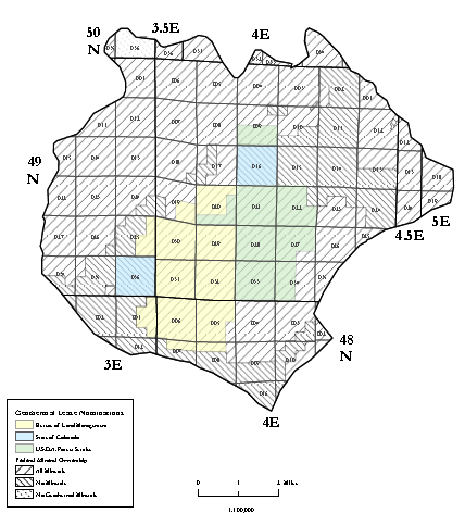 File:Mineral ownership and lease nominations of Waunita Hot Springs area.PNG