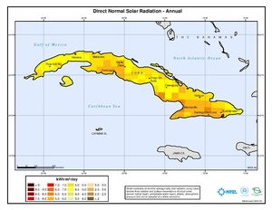 Cuba - Annual Direct Normal Solar Radiation