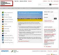 Manual of European Environmental Policy Screenshot