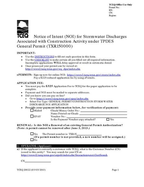File:Texas NOI for Storm Water Discharges Associated with Construction Activities (TXR150000).pdf
