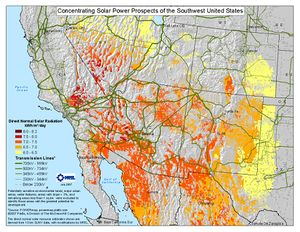 3 Percent Slope Concentrating Solar Power Prospects of the SW U.S. (JPG)