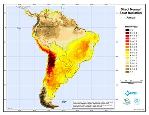 South America Direct Normal Solar Radiation (JPG)