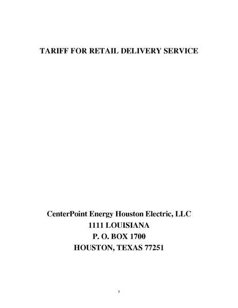 File:Utility Rate Houston centerpoint tariff.pdf