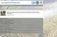 UNEP-Bioenergy Decision Support Tool Screenshot