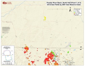 Powder River Basin, Northern Part By 2001 Gas Reserve Class