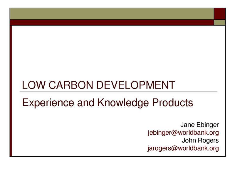 File:ESMAP Low Carbon Development Knowledge Products sept 27.pdf