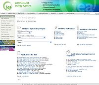 IEA Energy Statistics Screenshot