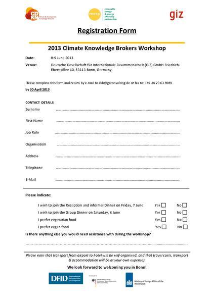 Registration Forms Pdf  Resume Template Sample