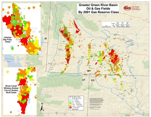 Greater Green River Basin By 2001 Gas Reserve Class