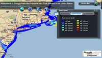 Tidal Stream Power Web GIS Tool Screenshot