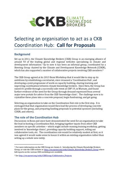 File:Selecting a CKB hub - call for proposals.pdf