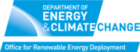 Logo: Britain's Department of Energy and Climate change.