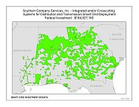 Coverage Map: Southern Company Services, Inc. Smart Grid Project