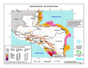 Central America - 50m Wind Power