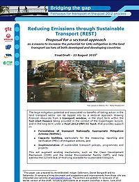 Reducing Emissions Through Sustainable Transport: Proposal for a Sectoral Approach Screenshot