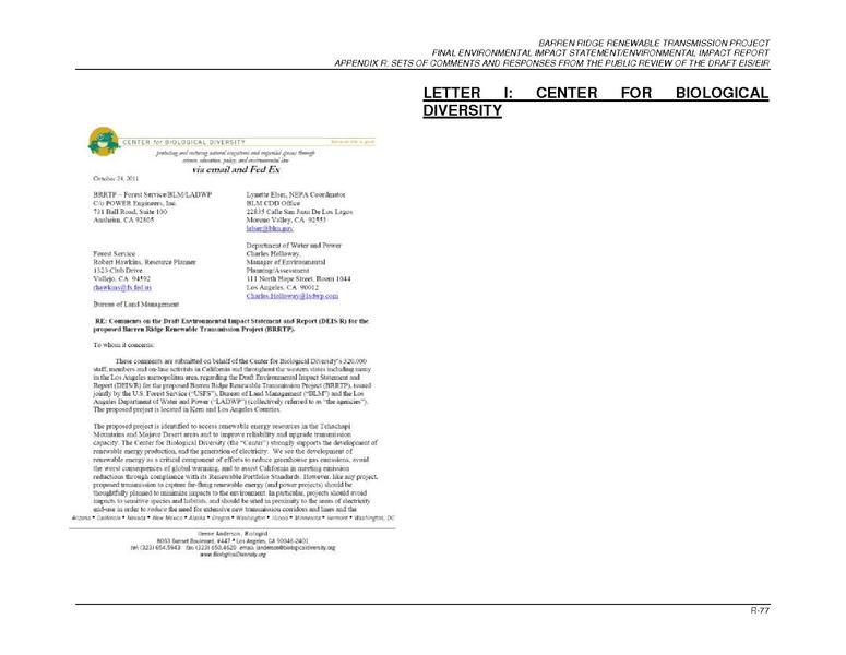 File:Barren Ridge FEIS-Volume II App R, Part 2D-Comment Letter I.pdf