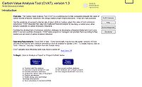 Carbon Value Analysis Tool (CVAT) Screenshot