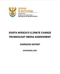 South Africa's Climate Change Technology Needs Assessment Screenshot