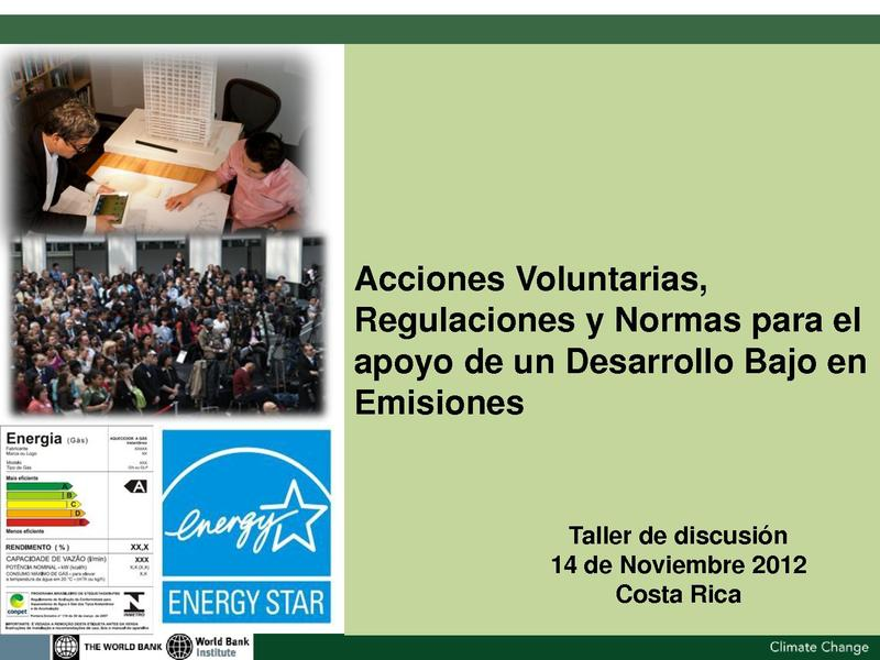 File:WBI - Acciones Voluntarias, Regulaciones y Normas para el apoyo de un Desarrollo Bajo en Emisiones.pdf
