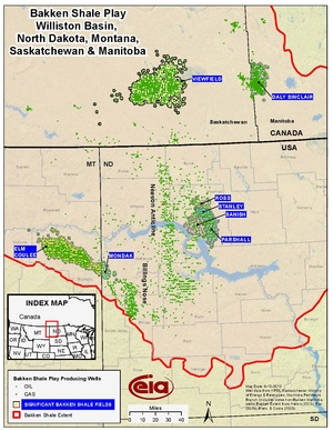 Bakken Shale Play, Williston Basin, North Dakota, Montana, Saskatchewan & Manitoba