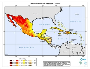 Caribbean - Annual Direct Solar Radiation
