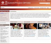 UNDP-Climate Finance Options Platform Screenshot