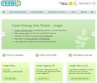 reegle.info - clean energy information portal Screenshot