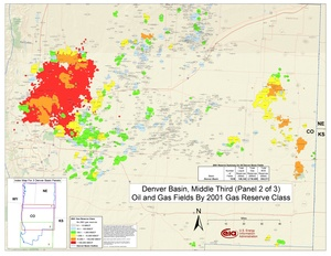 Denver Basin, Middle Part By 2001 Gas Reserve Class
