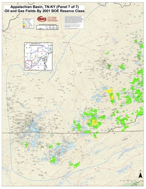 Appalachian Basin, Kentucky and Tennessee By 2001 BOE Reserve Class