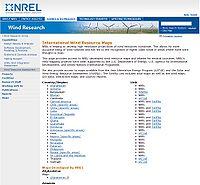 NREL-International Wind Resource Maps Screenshot