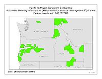 Coverage Map: Pacific Northwest Generating Cooperative Smart Grid Project