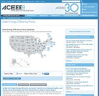 State Energy Efficiency Policy Database Screenshot