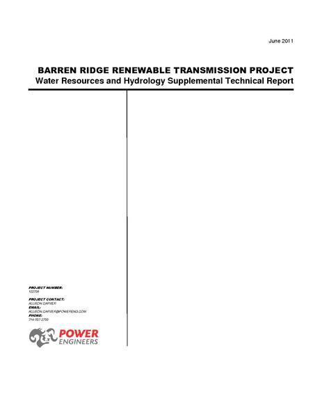 File:Barren Ridge FEIS-Volume IV ANF Water Tech Rpt June 2011.pdf