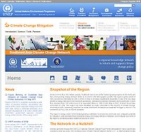 UNEP-Southeast Asia Climate Change Network Screenshot