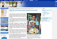 UNDP/GEF-Cambodia-Sustainable Forest Management Screenshot