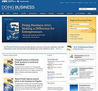 World Bank Doing Business Reports Screenshot