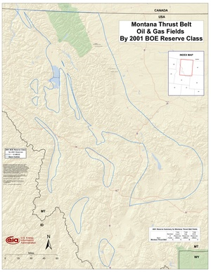Montana Thrust Belt By 2001 BOE Reserve Class