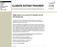 Climate Action Tracker Screenshot