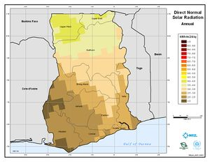Ghana - Annual Direct Normal Solar Radiation