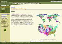 MAPSS Vegetation Modeling Screenshot
