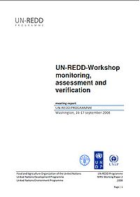 UN-REDD Workshop: Monitoring, Assessment and Verification Screenshot