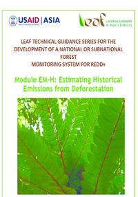 Module: Estimating Historical Emissions from Deforestation Screenshot