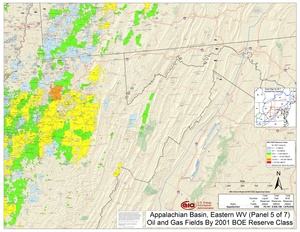 Appalachian Basin, Eastern West Virginia and Western Maryland By 2001 BOE Reserve Class