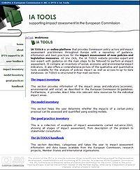 IPTS-IA Tools Screenshot