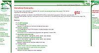 International Forest Policy Database Screenshot