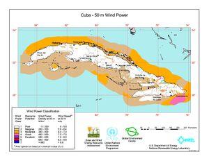 Cuba 50m Wind Power