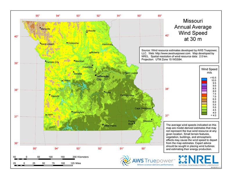 Missouri/Wind Resources/Full Version | Open Energy Information