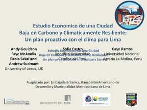 Estudio Economico de una Ciudad baja en carbono, un plan para Lima - Andy Goulson.pdf