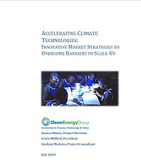 Accelerating Climate Technologies: Innovative Market Strategies to Overcome Barriers to Scale-up Screenshot