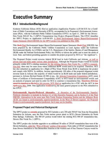 File:Devers Palo Verde No2-FEIS 0 Executive Summary.pdf